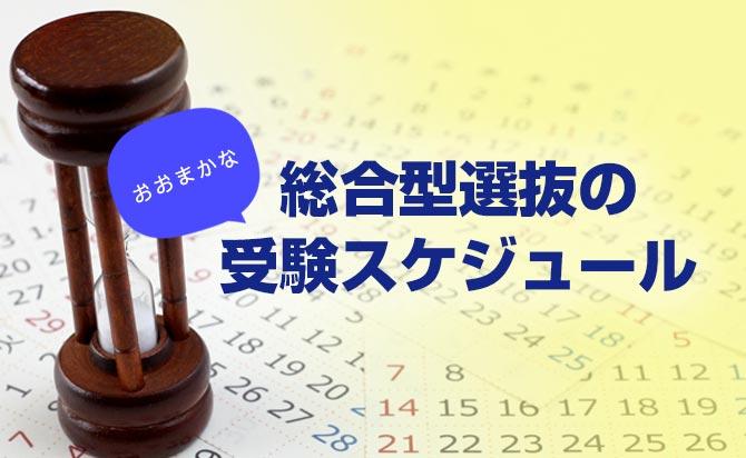 総合型選抜の主な受験スケジュール